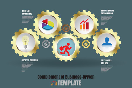 complement: Design template: Complement of business-driven, Vector Illustration