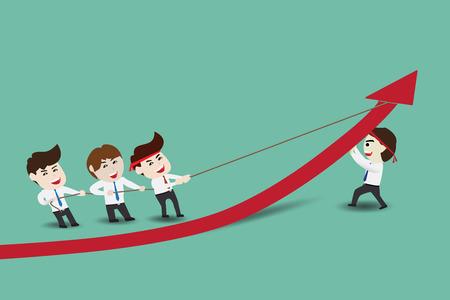 Ondernemers versnellen groei Stock Illustratie