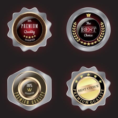best quality: Set of Golden-Silver Premium Quality and Best Choice badge