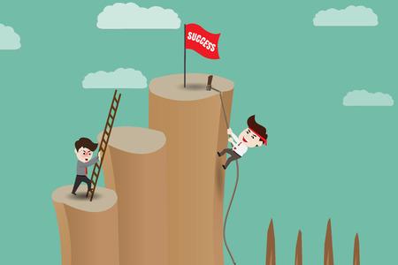 Raccourci - chemin de risque pour le succès, modèle Illustration