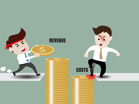 stimulate: Revenue and Costs, Businessman accelerate business growth
