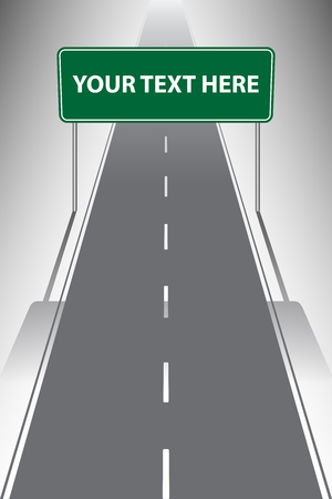 Design template, Road signs lead the way to your destination, vector illustration Vettoriali