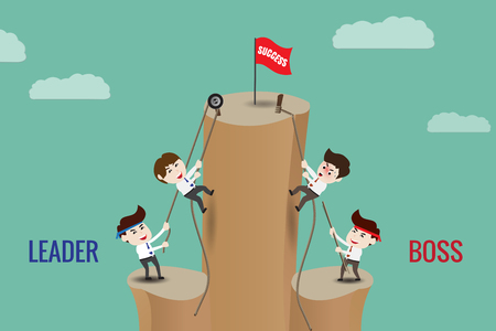 harmonize: The difference between leader and boss, template Illustration