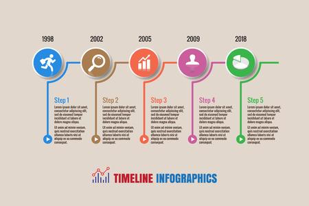 Design template: Business timeline, Vector Illustration