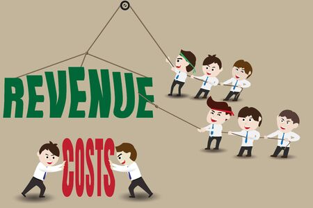 stimulate: Revenue and Costs, Businessman accelerating business growth