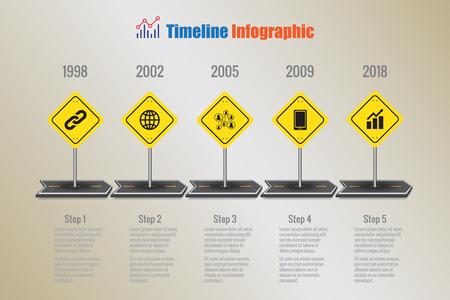 Design template, Creative business timeline infographics. Vector illustration