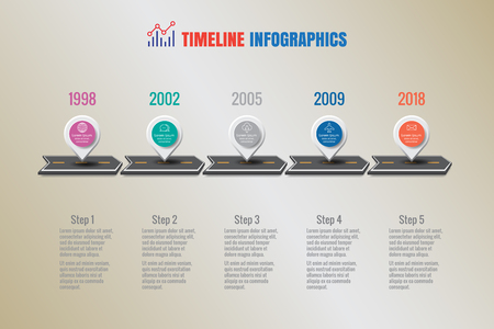 Design template, Creative business timeline infographics. Vector illustration