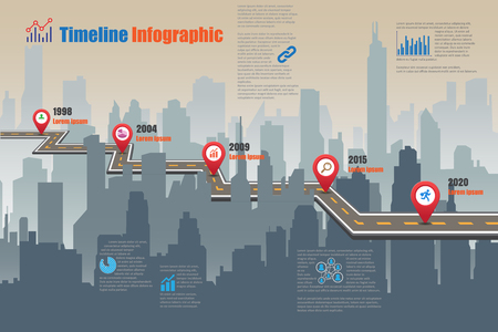 compatibility: Design template, Road map timeline infographic. Vector Illustration
