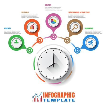 Design template, Modern Infographic process template. Vector illustration 版權商用圖片 - 78538512