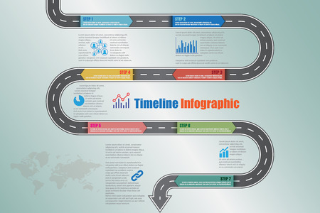 Design template, road map timeline infographic brochure diagram planning presentation process webpages workflow. Vector illustration