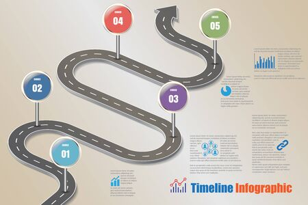 compatibility: Business road map timeline infographic icons designed for abstract background template element modern diagram process web pages technology digital marketing data presentation chart Vector illustration