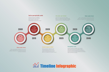 compatibility: Modern business timeline infographic with 6 steps circle designed