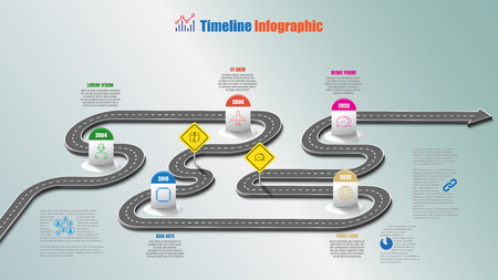 Business road map timeline infographic icons designed for abstract background template milestone element modern diagram process technology digital marketing data presentation chart illustration.