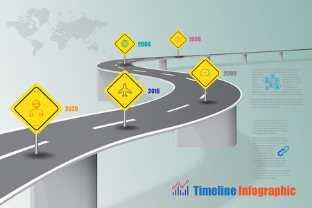 Business road map timeline infographic concept designed for abstract background template milestone diagram process