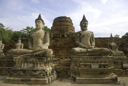 Buddha statue at ayuthaya Stock Photo