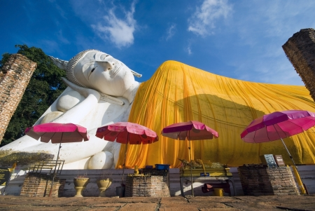 budha at angthong in thailand photo