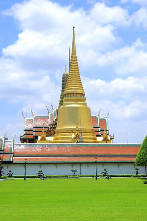 pagoda On green in thailand