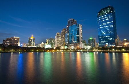cityscape on reflex in thailand  Stock Photo