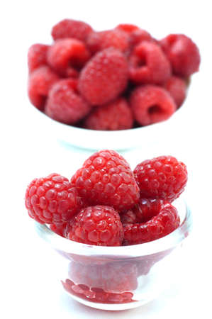 berry in cup on white background Stock Photo