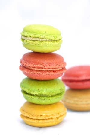 Macaroon on white back ground photo