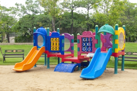 play ground  in park of thailand photo