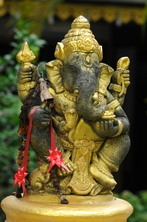 Ganesha gold Stock Photo