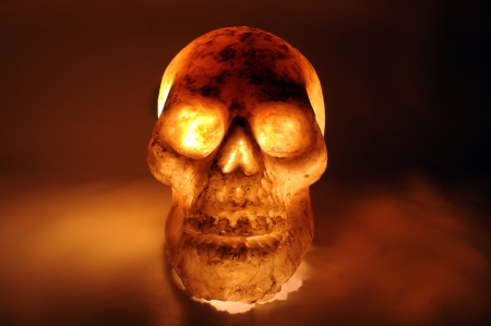 Burning skull in hot Stock Photo - 15638046