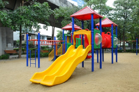play ground in park of thailand Stock Photo