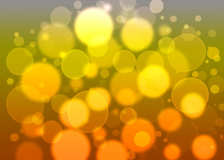 round bokeh in yellow photo