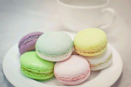 Macaron on plate