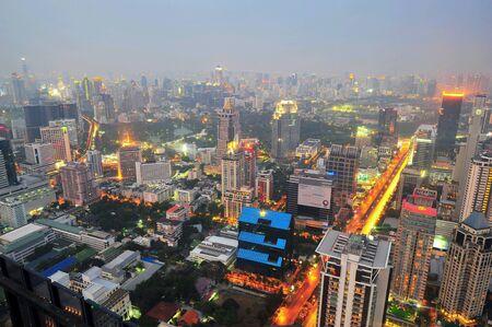 Bangkok thailand citynight. Stock Photo
