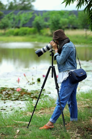 Female photographer.