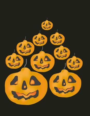 pumkin: Halloween pumkin vector orange  n  n. Stock Photo
