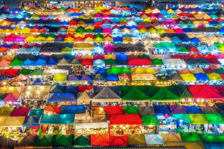 Thailand night market, street night market Colourful and beauty of night market,