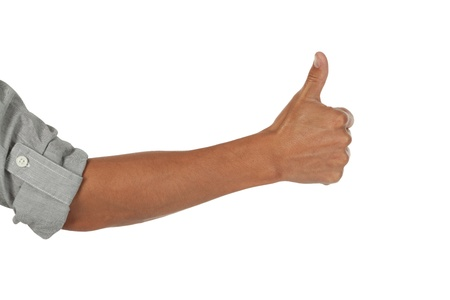 arm with a thumbs up photo