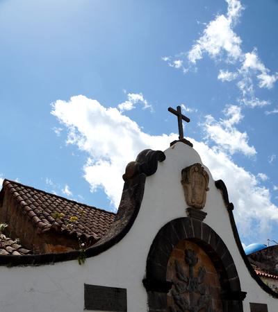 Church forecourt in Teror Reklamní fotografie - 28350370