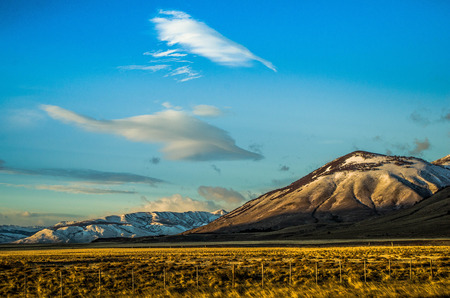 Patagonian landscape Stock Photo