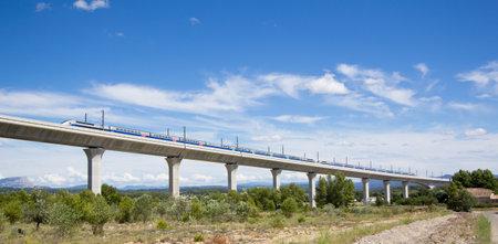 Railroad bridge for TGV in France Editorial