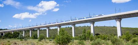 Railroad bridge for TGV in France 新聞圖片