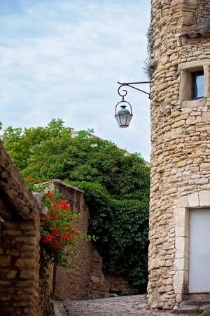 gordes: Street in the historic village of Gordes, Provence, France Stock Photo
