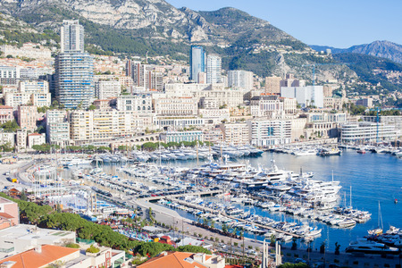 Scenic view of Monaco city from the Village Editorial