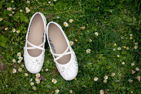 girlie: Sweet girlie shoes Stock Photo