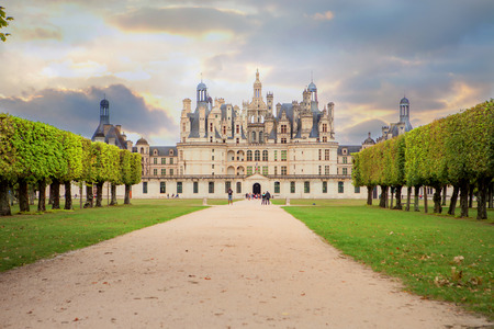 chambord: Chateau de Chambord, royal medieval french castle at Loire Valley in France, Europe