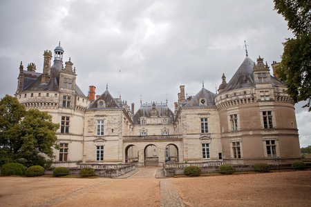 Medieval castles of Loire valley - Le-Lude on a cloudy day, after the rain Editorial