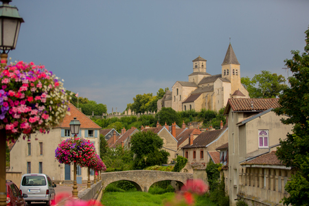 Chatillon-sur-Seine (Cote dOr Burgundy France) - The ancient town with bridge and castle