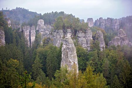 Czech republic rocks and mountains, impressive nature