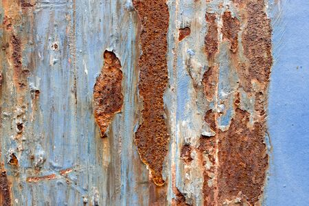 Rusted on surface of the old iron, Deterioration of the steel, Decay and grunge Texture background
