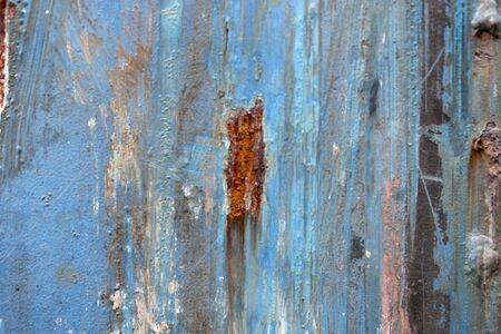Rusty metal surface and cracking texture Imagens