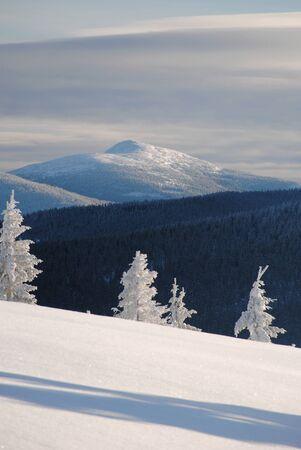 View from Hala Rysianka to Babia Gora (Beskidy Mountains)