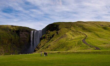 Skogarfoss - one of the most beautiful waterfalls in Iceland Stock Photo - 16800774